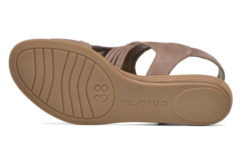 Sandales et nu-pieds Unisa Amolo Marron vue haut