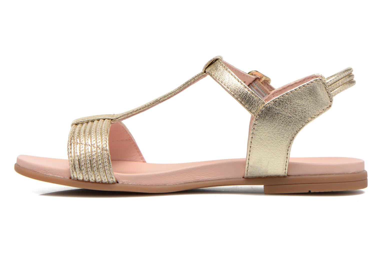 Sandales et nu-pieds Unisa Lendo Or et bronze vue face