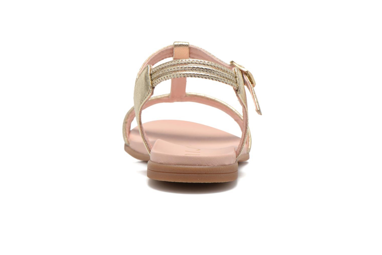 Sandales et nu-pieds Unisa Lendo Or et bronze vue droite