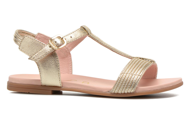 Sandales et nu-pieds Unisa Lendo Or et bronze vue derrière