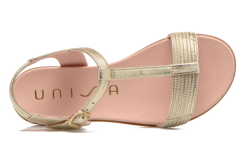 Sandales et nu-pieds Unisa Lendo Or et bronze vue gauche