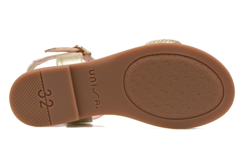 Sandales et nu-pieds Unisa Lendo Or et bronze vue haut