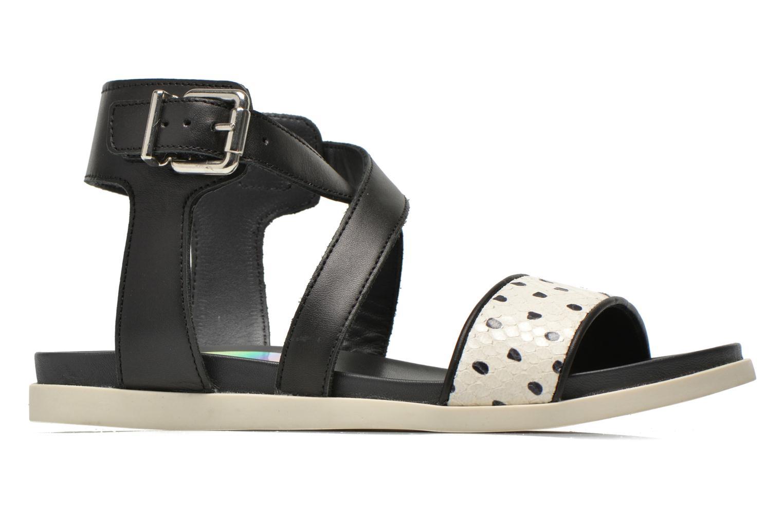 Sandales et nu-pieds Unisa Pacy Noir vue derrière