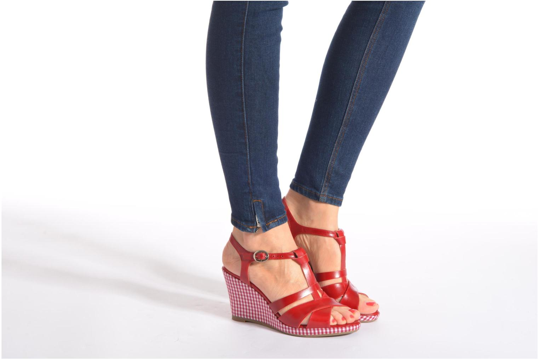 Sandales et nu-pieds Georgia Rose Ehourque Bleu vue bas / vue portée sac