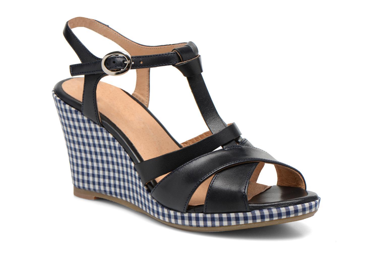 Sandales et nu-pieds Georgia Rose Ehourque Bleu vue détail/paire