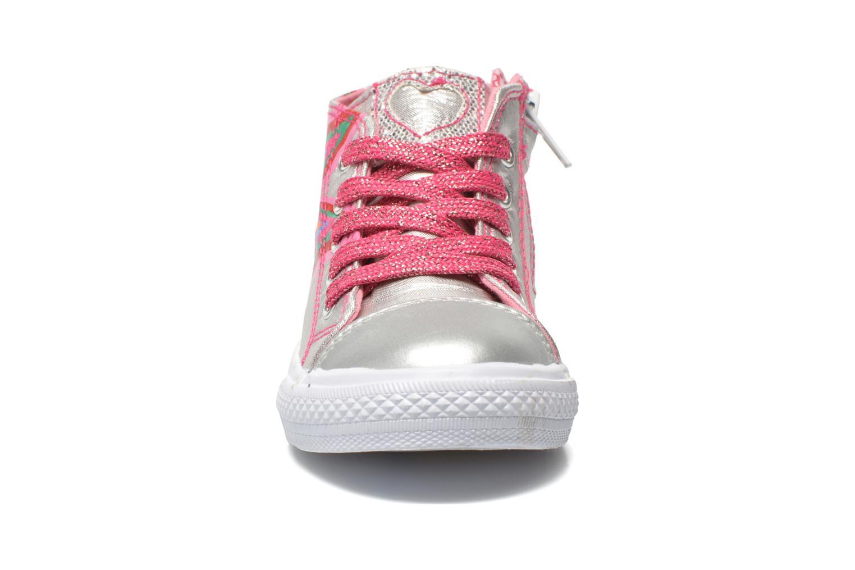 Baskets Agatha Ruiz de la Prada Sunny Mid Lollipop Argent vue portées chaussures