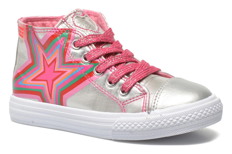 Baskets Agatha Ruiz de la Prada Sunny Mid Lollipop Argent vue détail/paire