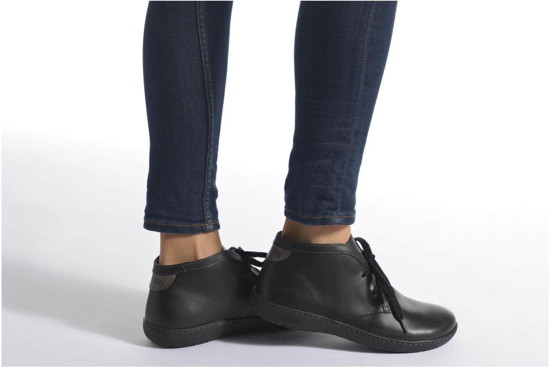 Chaussures à lacets Birkenstock Scarba Ladies Noir vue bas / vue portée sac