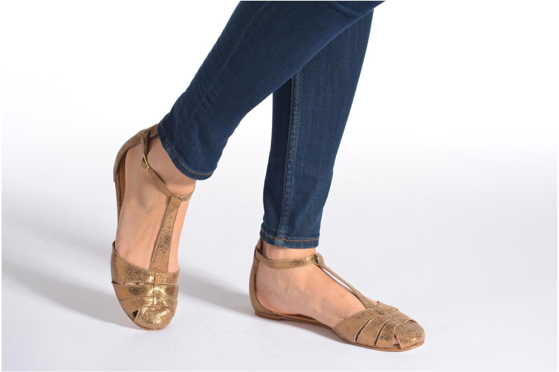 Sandales et nu-pieds Jonak Dowdies Or et bronze vue bas / vue portée sac