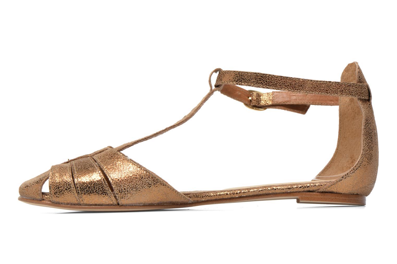 Sandalias Jonak Dowdies Oro y bronce vista de frente