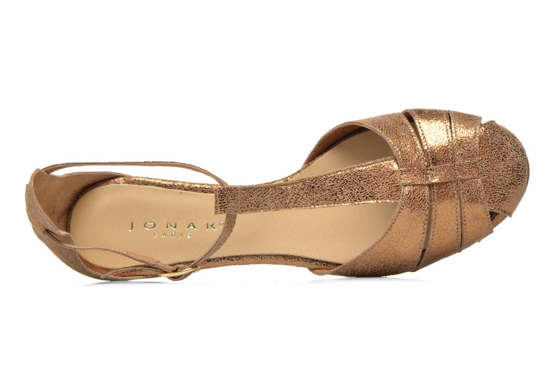 Sandales et nu-pieds Jonak Dowdies Or et bronze vue gauche