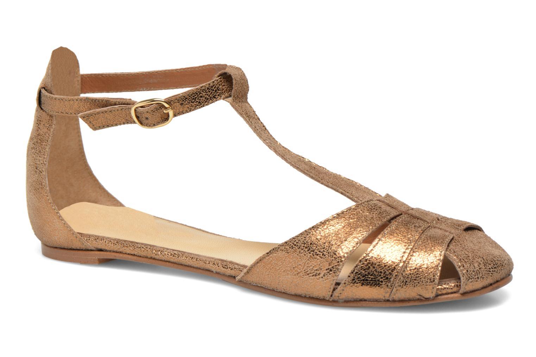 Sandales et nu-pieds Jonak Dowdies Or et bronze vue détail/paire