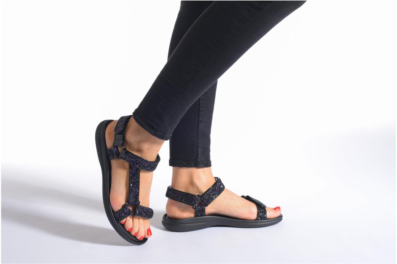 Sandales et nu-pieds Blink Kuri Argent vue bas / vue portée sac