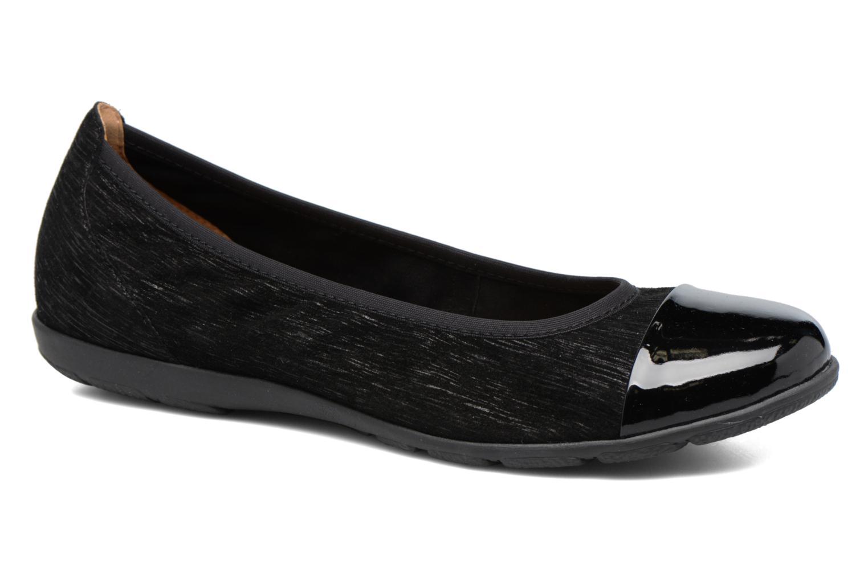 Ballerinaer Caprice Vivian Sort detaljeret billede af skoene