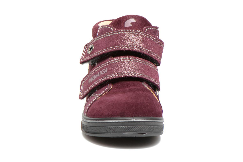 Chaussures à scratch Primigi Fiji Bordeaux vue portées chaussures