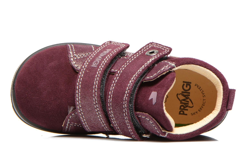 Chaussures à scratch Primigi Fiji Bordeaux vue gauche