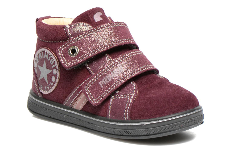 Chaussures à scratch Primigi Fiji Bordeaux vue détail/paire
