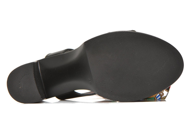 Sandales et nu-pieds Love Moschino ILOVEFOULARD Noir vue haut