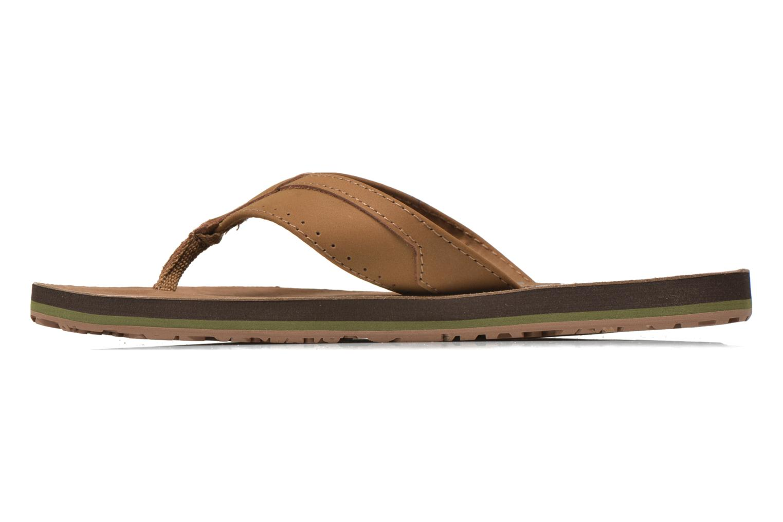 Flip flops Globe Base Brown front view