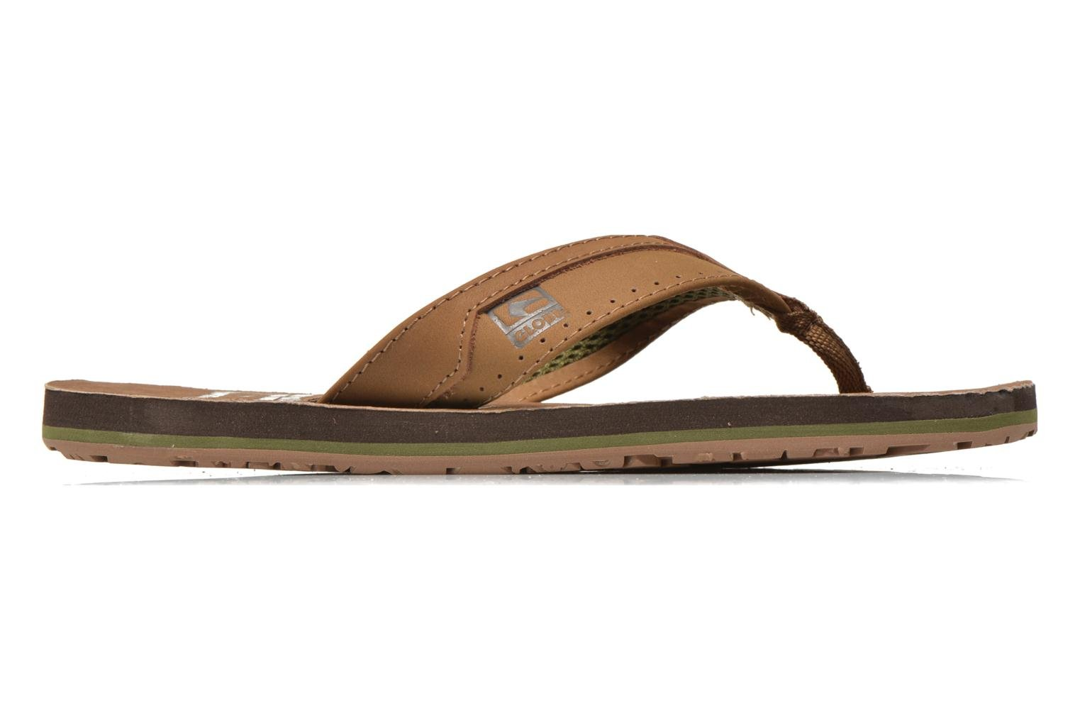 Flip flops Globe Base Brown back view