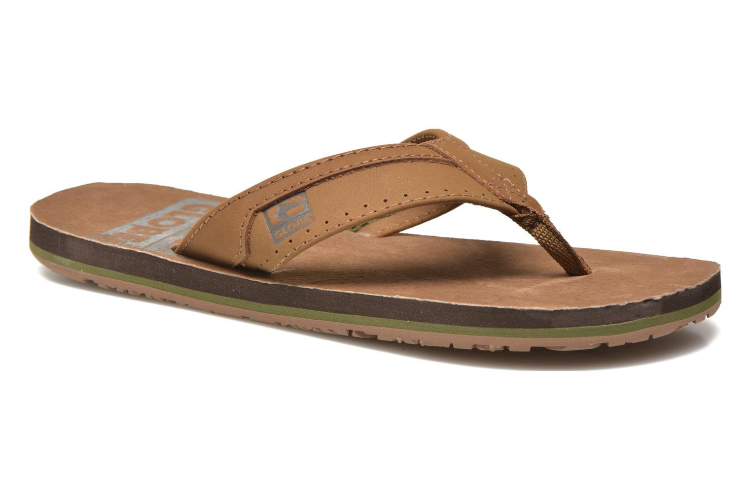Flip flops Globe Base Brown detailed view/ Pair view
