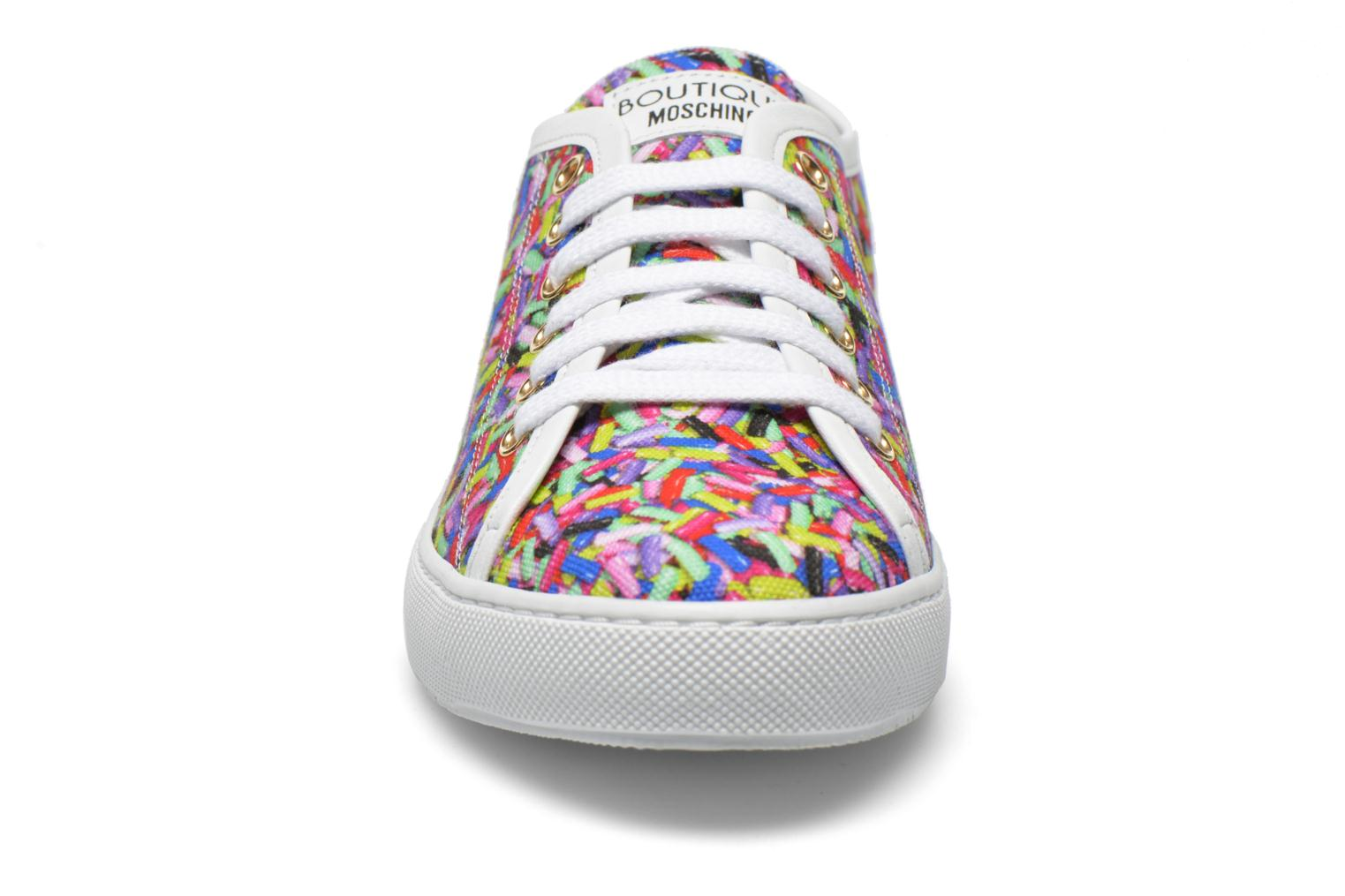 Baskets Boutique Moschino Sneaker candy Multicolore vue portées chaussures