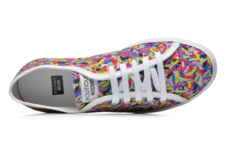 Baskets Boutique Moschino Sneaker candy Multicolore vue gauche