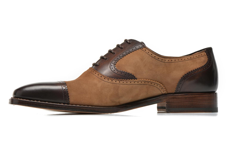 Snörade skor Marvin&Co Luxe Witold Brun bild från framsidan