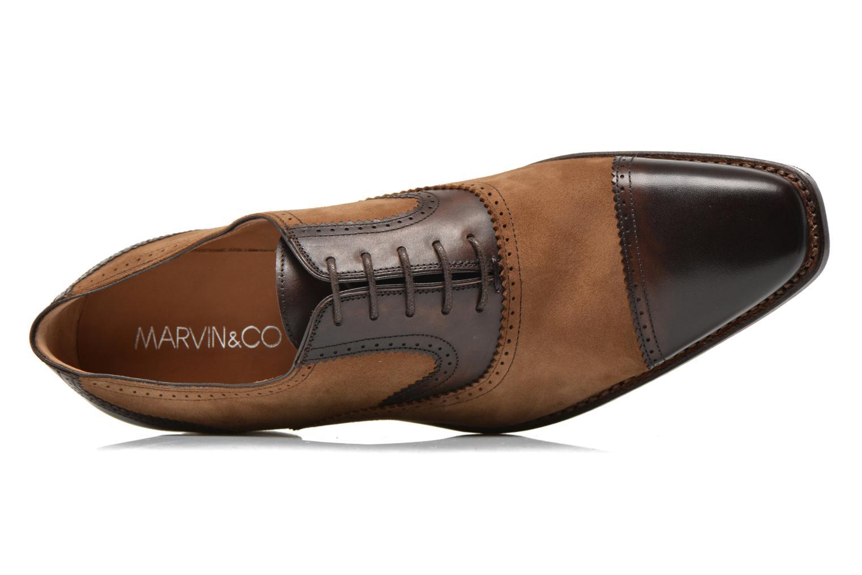 Snörade skor Marvin&Co Luxe Witold Brun bild från vänster sidan