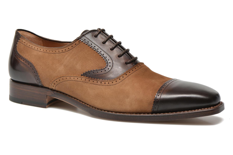 Snörade skor Marvin&Co Luxe Witold Brun detaljerad bild på paret