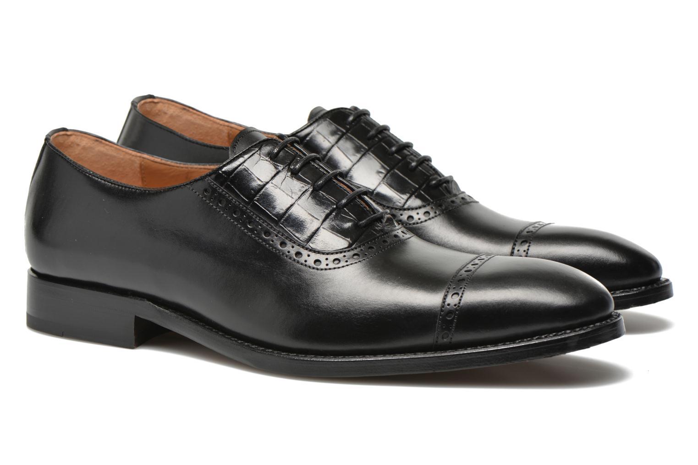 Zapatos con cordones Marvin&Co Luxe Woodly Negro vista 3/4