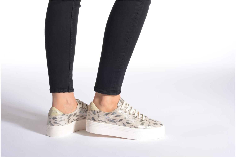Baskets No Name Plato Sneaker Print Fauve Argent vue bas / vue portée sac