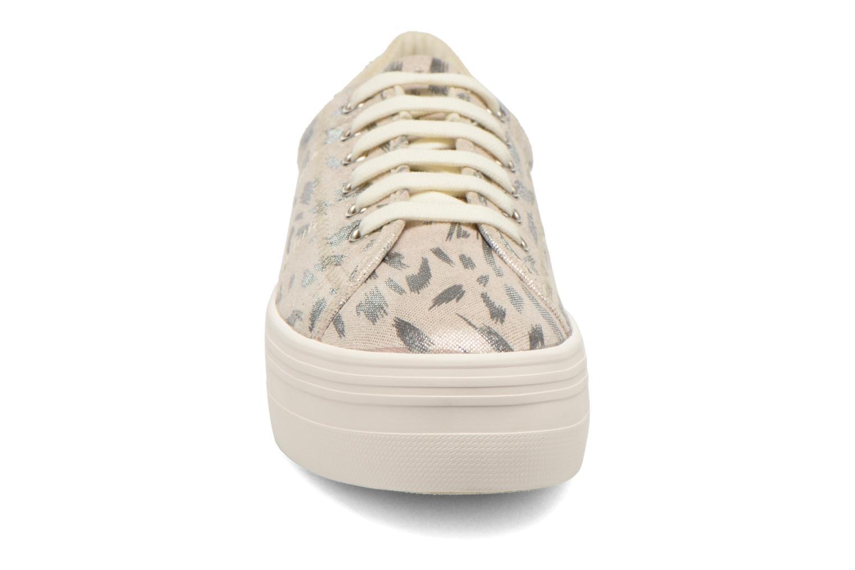 Baskets No Name Plato Sneaker Print Fauve Argent vue portées chaussures