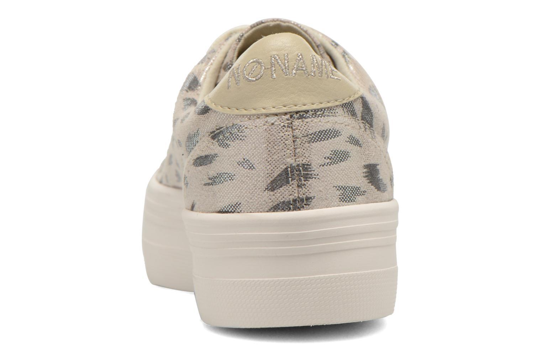 Baskets No Name Plato Sneaker Print Fauve Argent vue droite