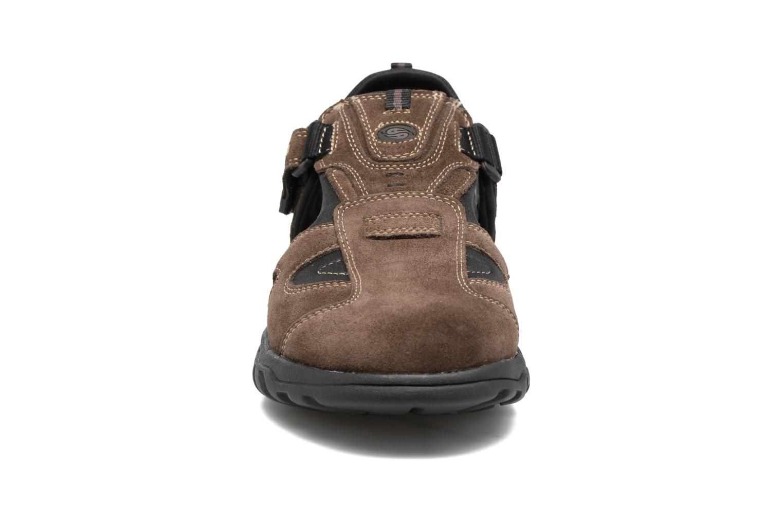 Sandales et nu-pieds Dockers Roger Marron vue portées chaussures