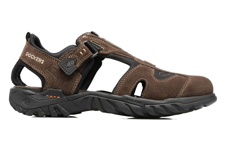 Sandales et nu-pieds Dockers Roger Marron vue derrière