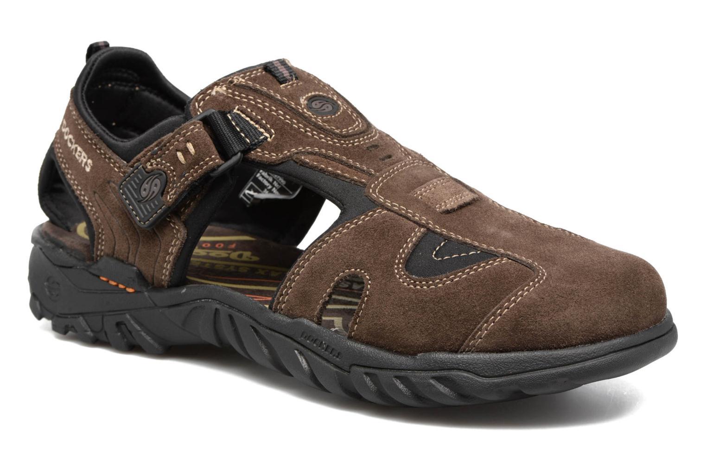 Sandales et nu-pieds Dockers Roger Marron vue détail/paire