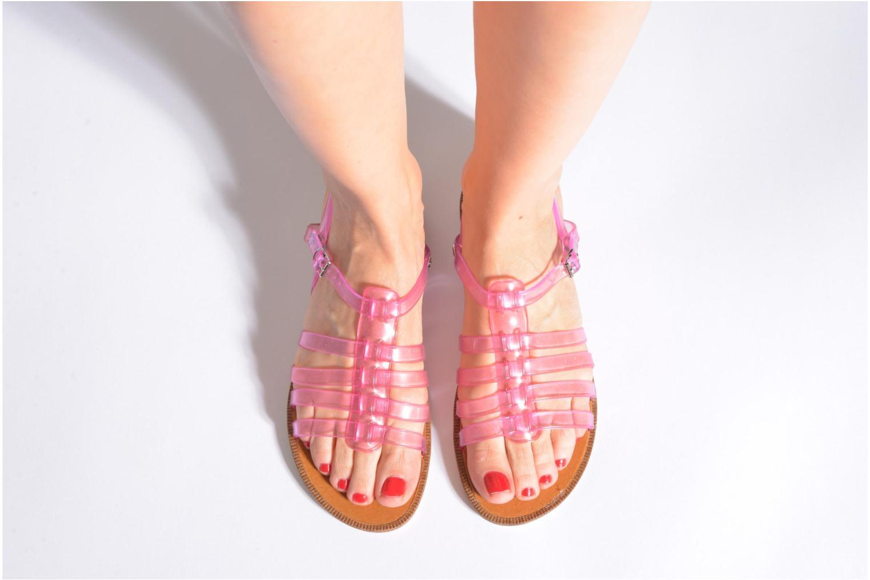 Sandalen Méduse Bora rosa ansicht von unten / tasche getragen