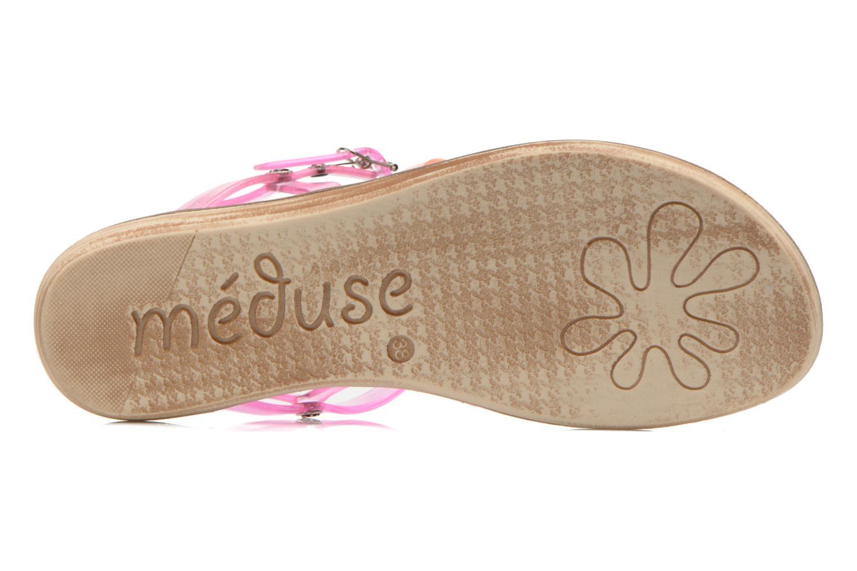 Sandales et nu-pieds Méduse Bora Rose vue haut
