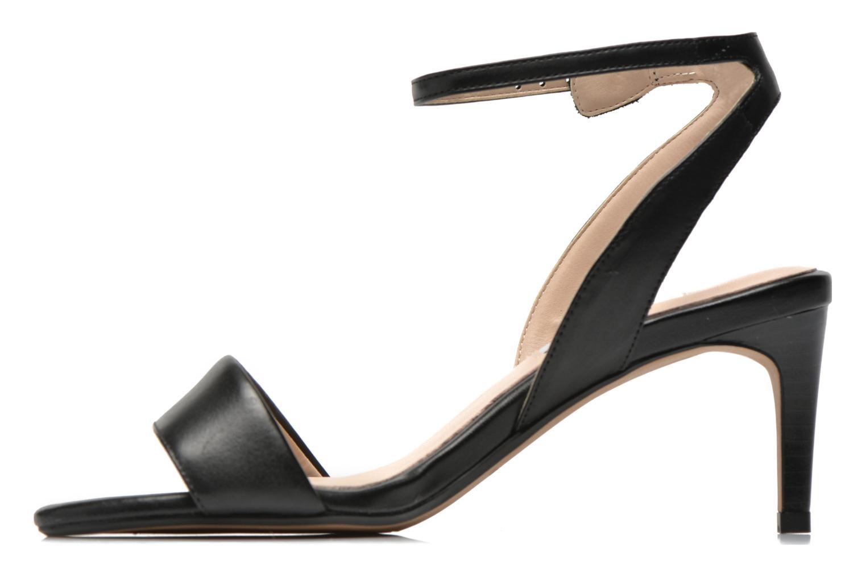 Sandales et nu-pieds Clarks Amali Jewel Noir vue face