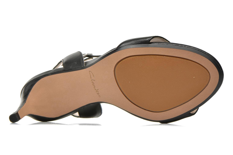 Sandales et nu-pieds Clarks Amali Jewel Noir vue haut