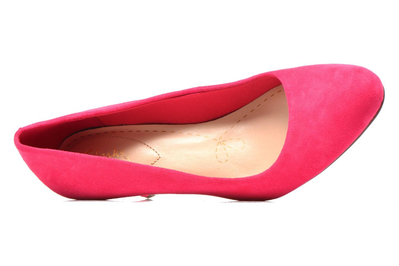 Zapatos de tacón Clarks Carlita Cove Rosa vista lateral izquierda