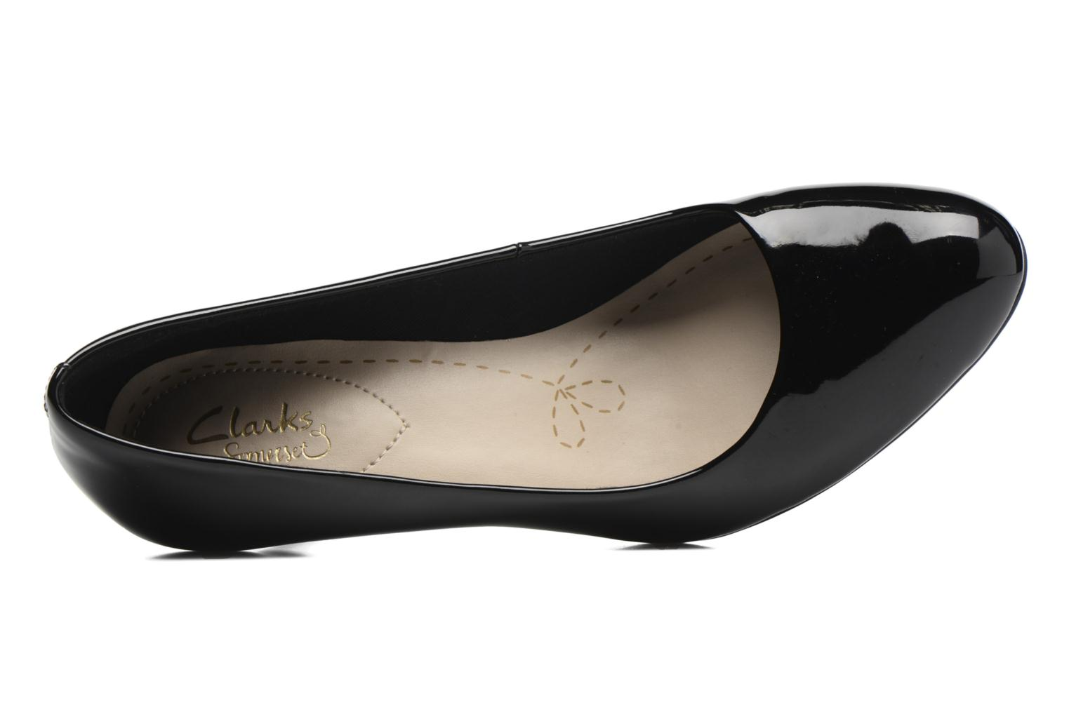 High heels Clarks Carlita Cove Black view from the left
