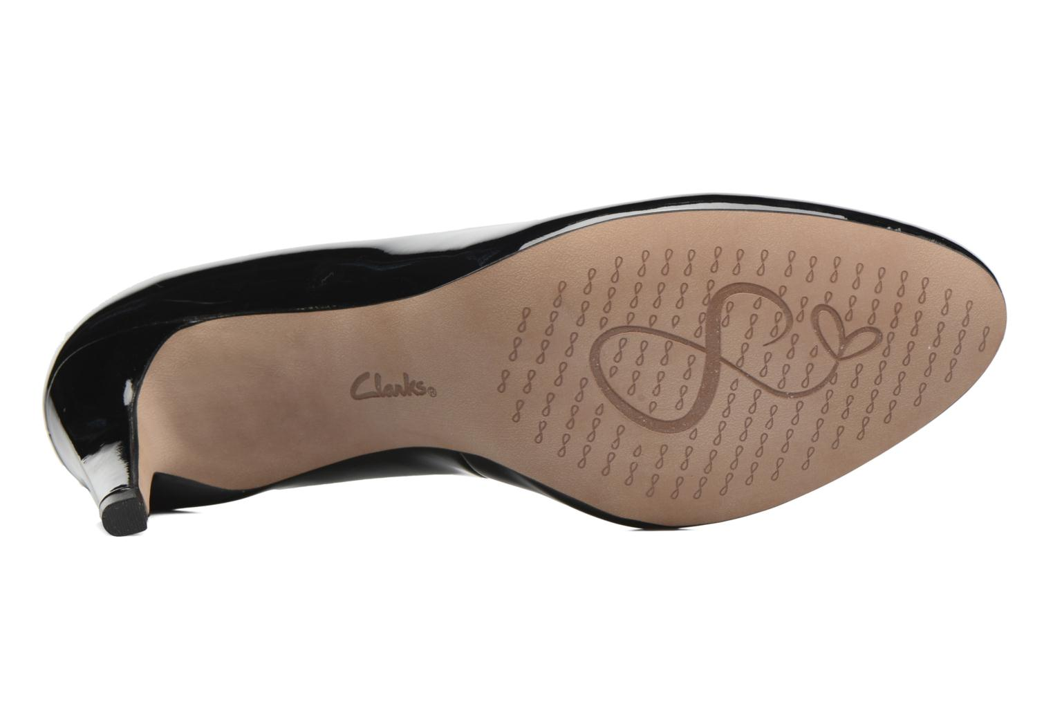 High heels Clarks Carlita Cove Black view from above