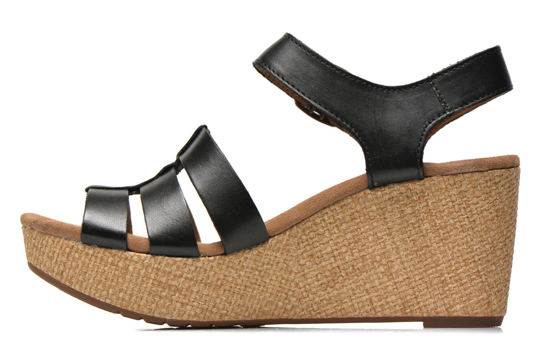 Sandales et nu-pieds Clarks Caslynn Harp Noir vue face