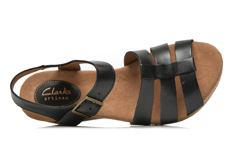 Sandales et nu-pieds Clarks Caslynn Harp Noir vue gauche