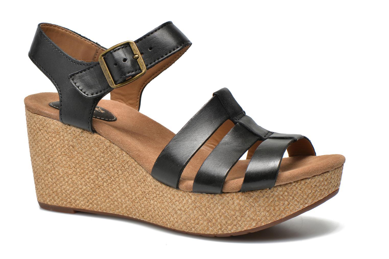 Sandales et nu-pieds Clarks Caslynn Harp Noir vue détail/paire