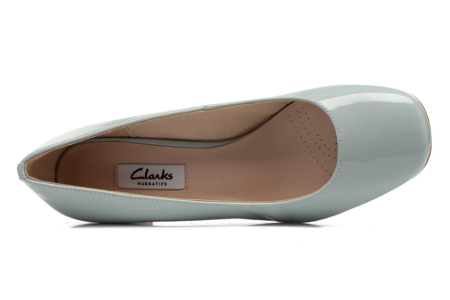 High heels Clarks Chinaberry Gem Blue view from the left