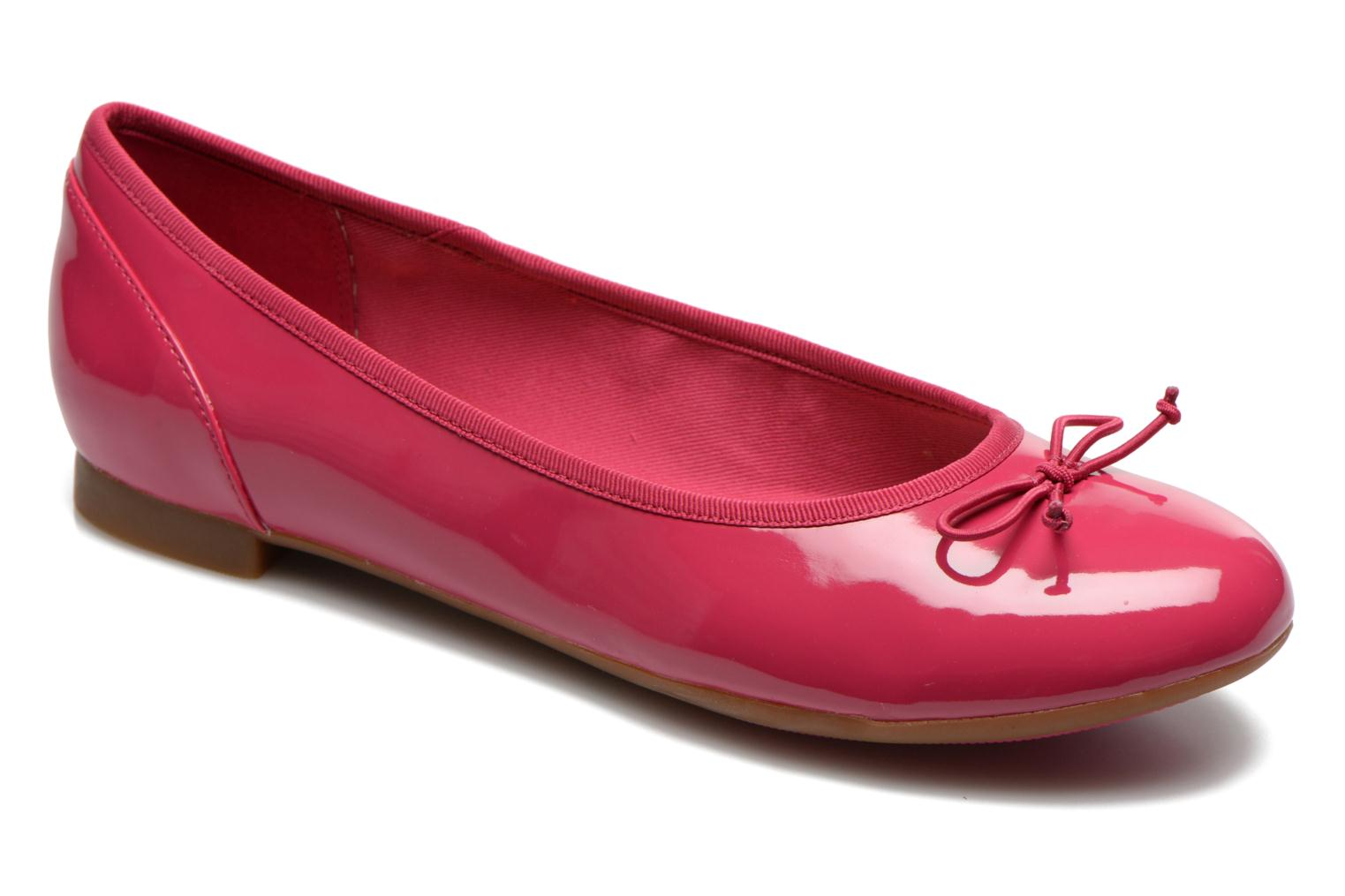 Ballet pumps Clarks Couture Bloom Pink detailed view/ Pair view