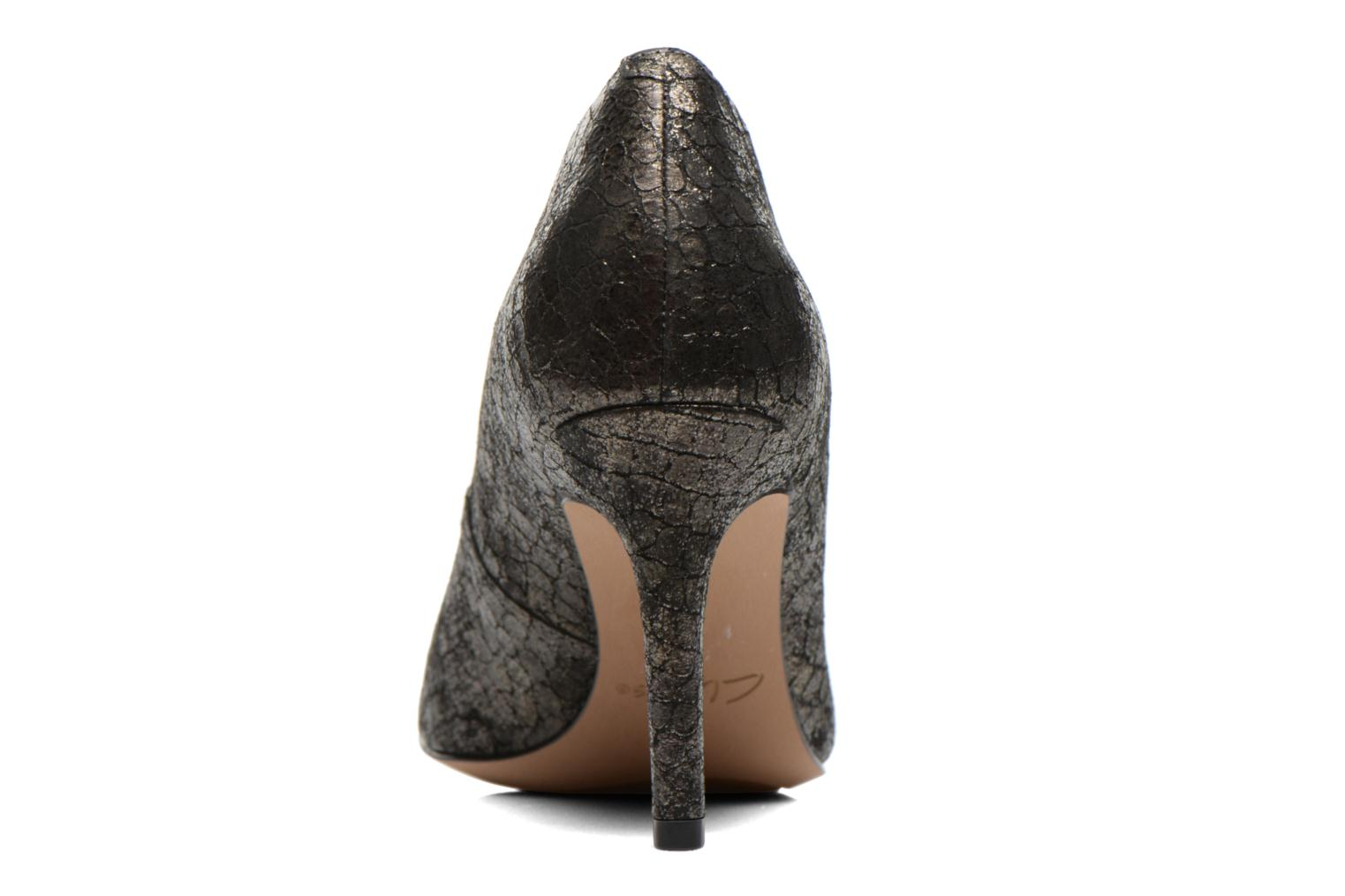 High heels Clarks Dinah Keer Bronze and Gold view from the right